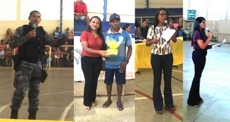 Cabo Giordano participa de palestra com pais e alunos Antônio Gramoza