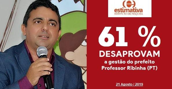 Prefeito Profº Ribinha tem gestão reprovada por 61% dos campo-maiorenses