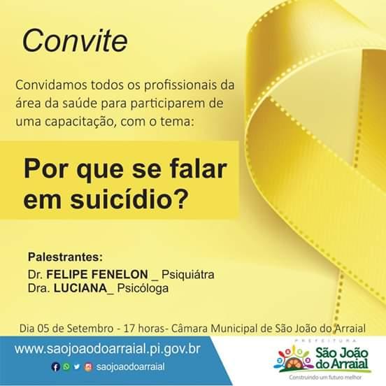 Profissionais da saúde participarão de capacitação de prevenção ao suicídio