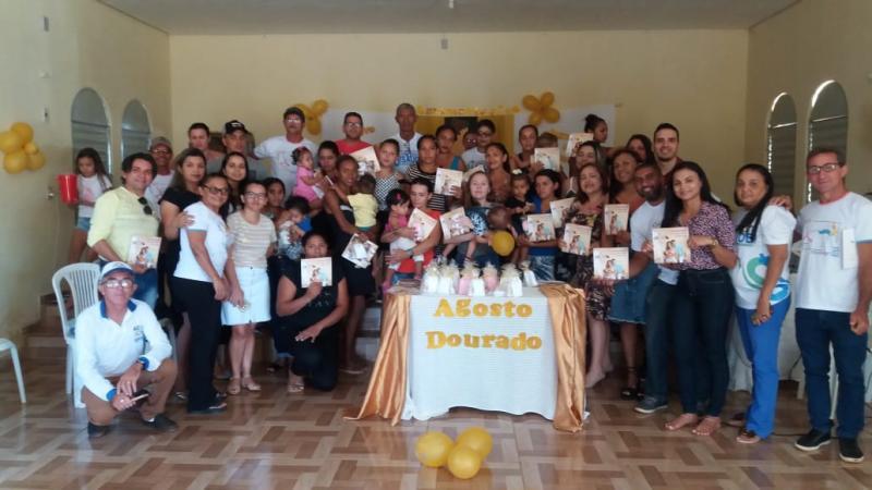 Saúde de Barra D'Alcântara realiza Agosto Dourado