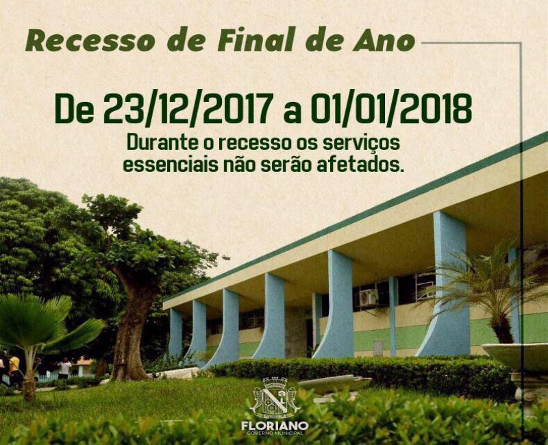 Prefeitura entra em recesso a partir deste sábado (23)