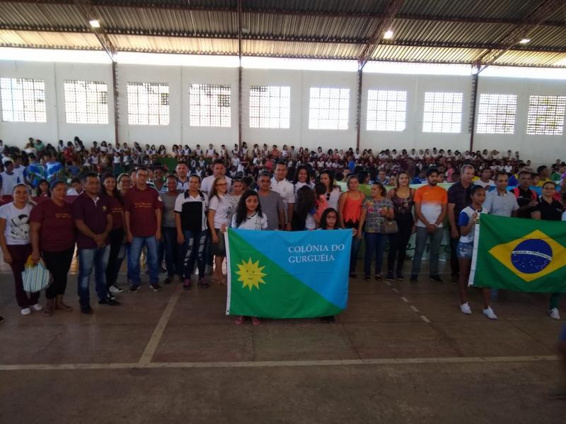 Abertura dos jogos escolares EDUCAESPORTE em Colônia do Gurgueia