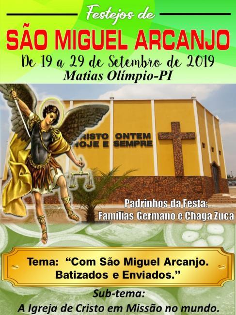 Igreja Católica divulga programação para os Festejos de São Miguel Arcanjo