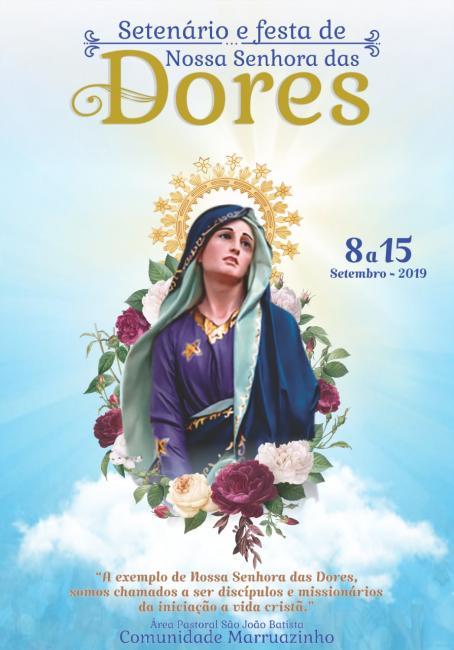 Marruazinho divulgou a programação da festa de Nossa Senhora das Dores