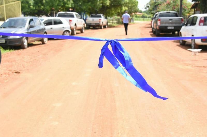 Prefeito Joel Rodrigues inaugura construção da estrada que da acesso à comunidade Mucambo