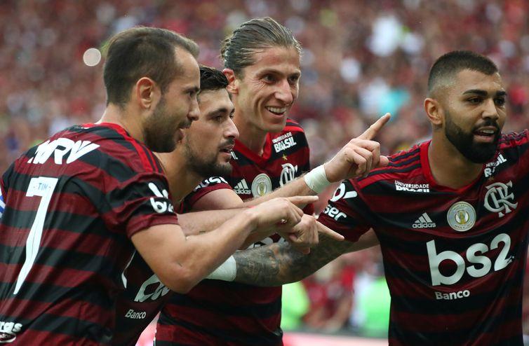Arrascaeta comemora gol marcado contra o Palmeiras - Reuters/Pilar Olivares/Direitos Reservados