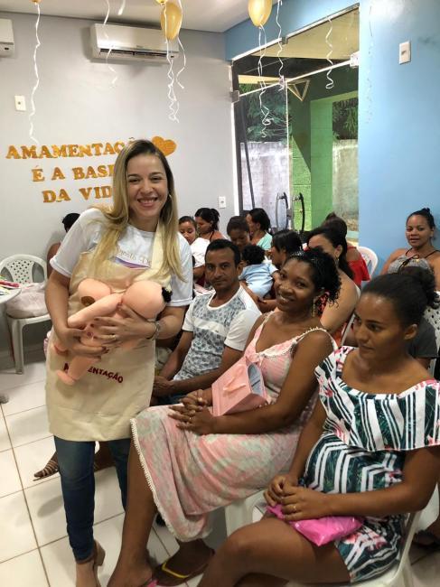 Secretaria de saúde realiza atividades sobre a importância da amamentação
