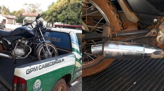 Ação: PM flagra motos com cano 'Kadron' em Cabeceiras