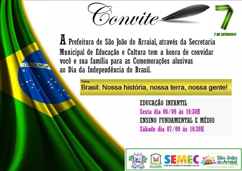 Desfile da Independência acontecerá dias 06 e 07 em São João do Arraial