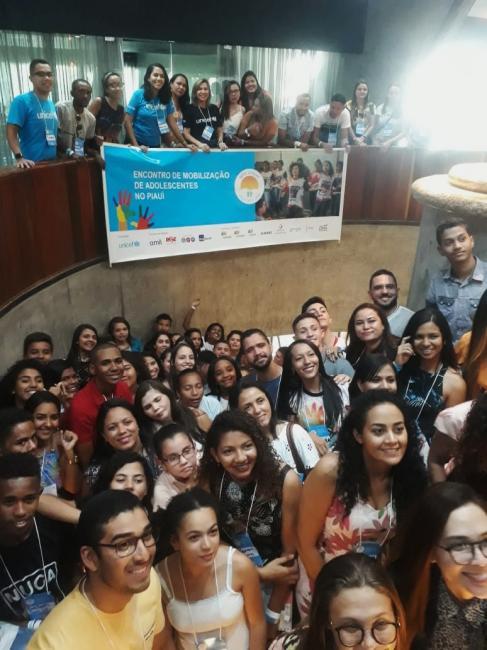 Oeiras participa de Encontro Estadual de Mobilização de Adolescentes