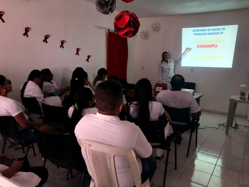 Secretaria de Saúde de Francisco Macedo promove oficina sobre o Sarampo