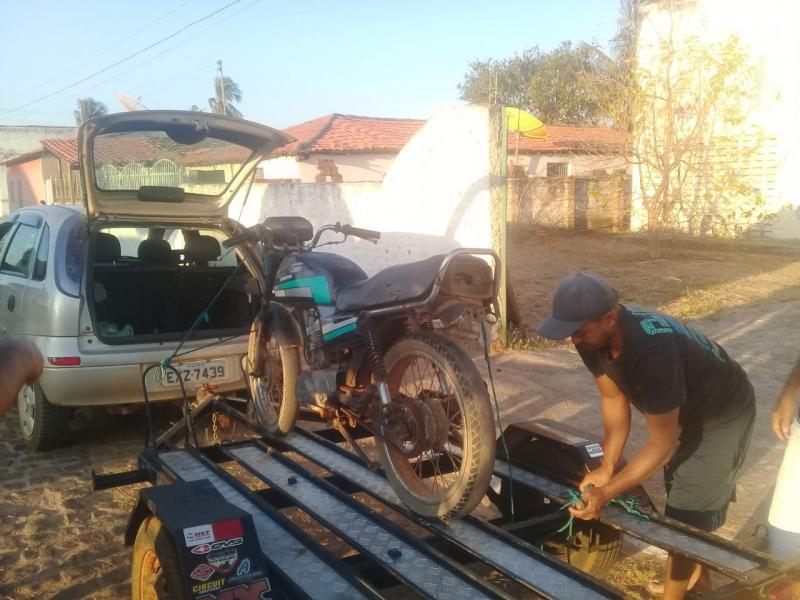 GPM de São Francisco do Piauí apreende moto sem documentação