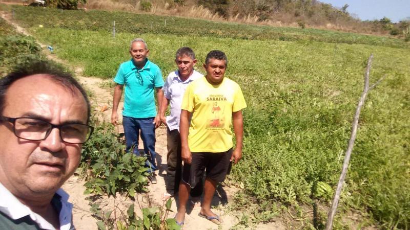 Técnicos da EMATER visitam assentados da zona rural de Pau D'arco do PI