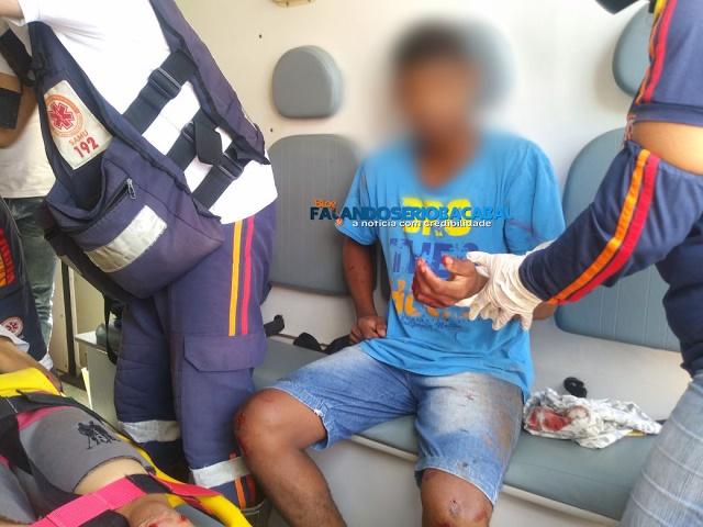 Em Bacabal-Empinando moto, menores colidem em portão e ficam feridos