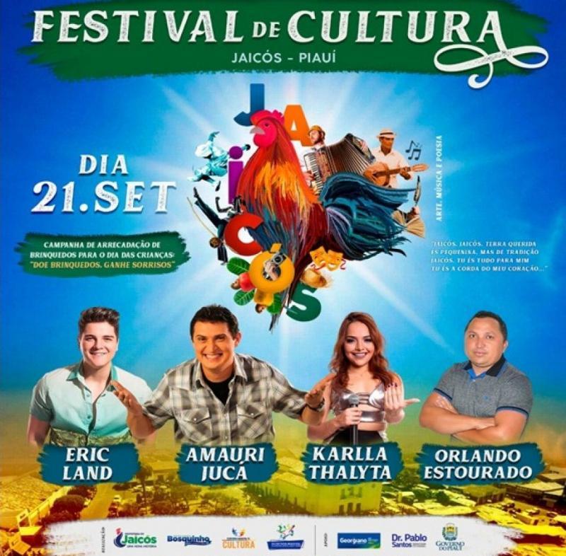 Confira a programação do I Festival de Cultura em Jaicós