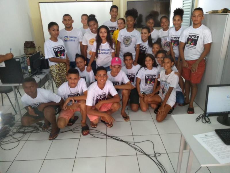 Jovens de Francinópolis participam de campanha Internet Sem Vacilo