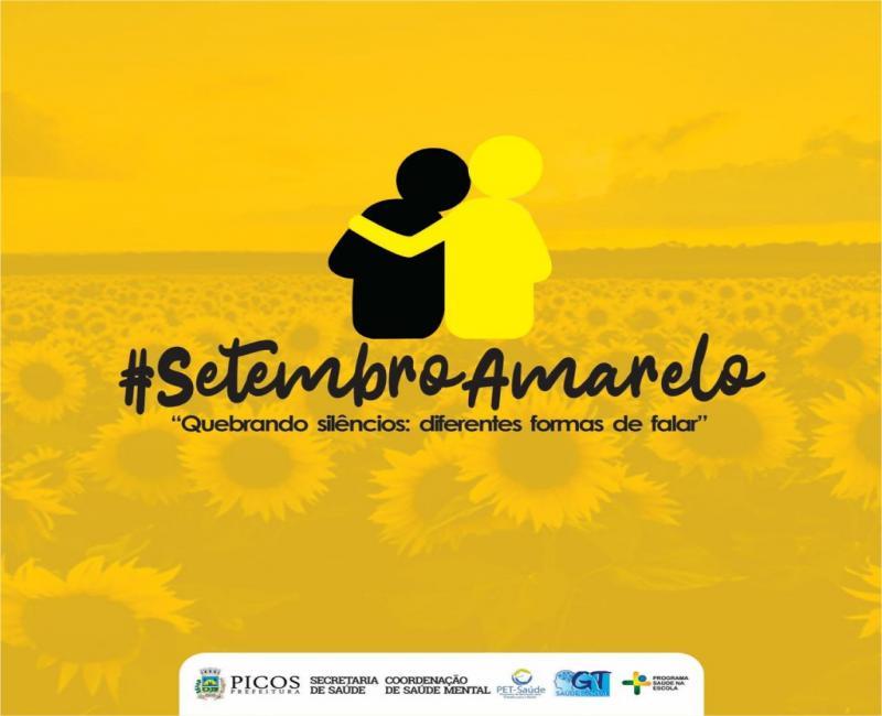 """SMS divulga programação da campanha do  """"Setembro Amarelo"""", em Picos"""