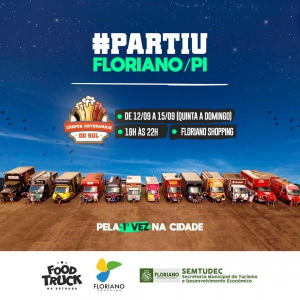 Festival 'Food Truck Na Estrada' chega a Floriano nesta quinta-feira (12)