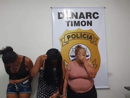 Denarc/Timon prende em flagrante 'Vovó do Tráfico' e outras duas mulheres