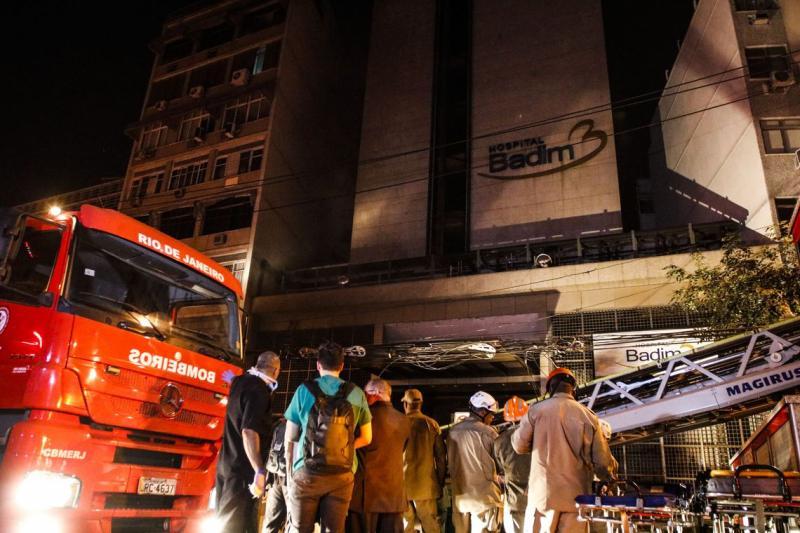 Incêndio atinge hospital e deixa 11 mortos no Rio