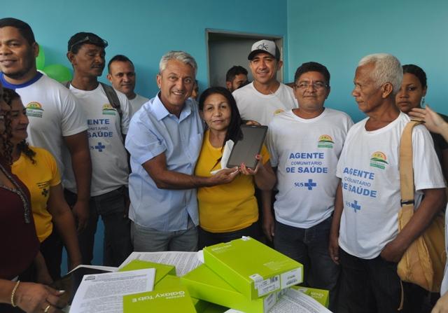 Agentes Comunitários recebem tablets para trabalho de campo em Monte Alegre