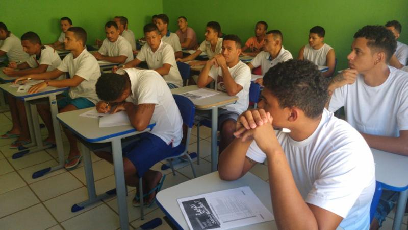Reeducandos de Bom Jesus participam de sétima revisão para o Enem 2019