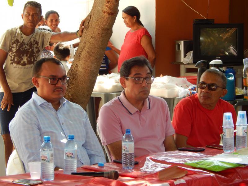 Prefeito e Vereador participam de reunião com Pescadores