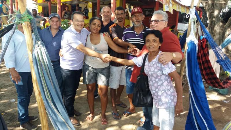 Prefeito e comitiva visitam romeiros de Lagoinha nos festejos de Santa Cruz