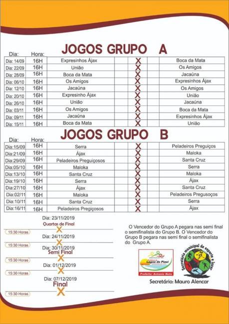 Lagoa do Piauí | Confira a programação do XIII Campeonato de Futebol