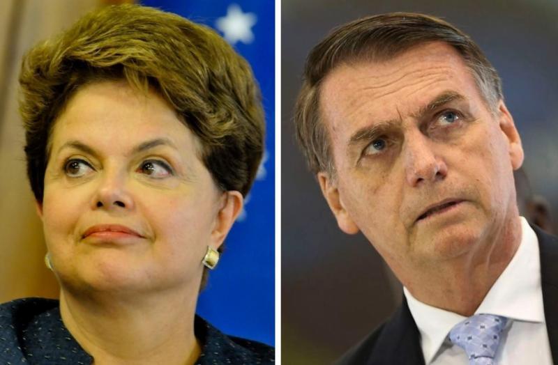 Dilma chama Bolsonaro de 'tosco e misógino'