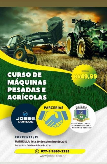 Curso de máquinas pesadas e agrícolas é ofertado no município de Corrente
