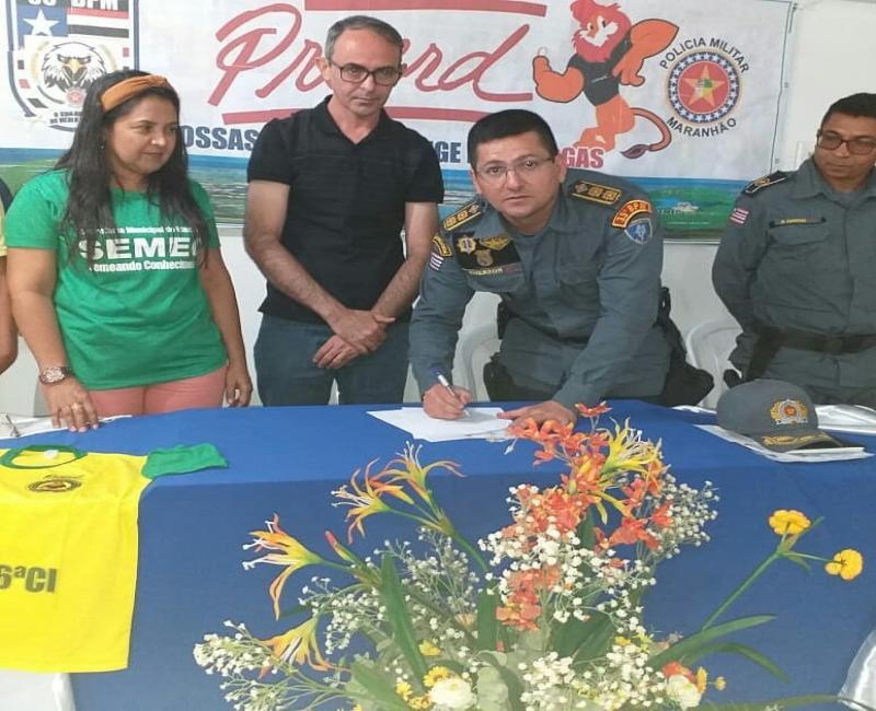 35º BPM e prefeitura de Lagoa do Mato faz parceria para aplicação do proerd