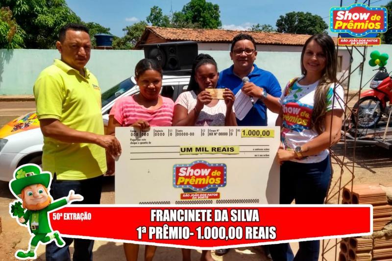 Ganhadores da 50º extração do show de prêmios São João dos Patos da Sorte