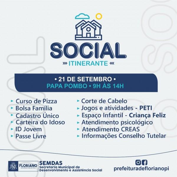 SEMDAS leva ação social para o Papa Pombo neste sábado (21)