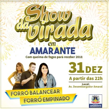 Prefeitura de Amarante realizará Show da Virada