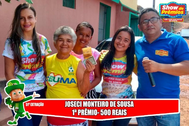 Ganhadores da 51º extração do show de prêmios São João dos Patos da sorte