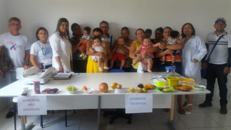 Saúde de Barra D'Alcântara realiza oficina sobre Alimentação Complementar