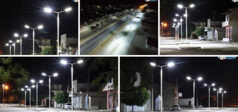 Luminárias de LED são instaladas em Campo Grande do Piauí