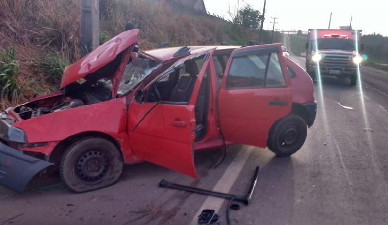 Motorista morre após carro capotar na BR-135