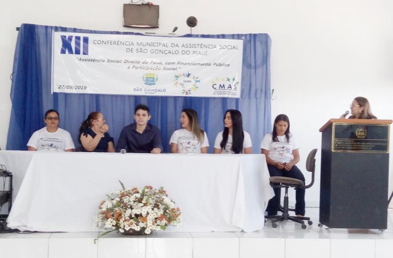 XII Conferência Mun. da Assistência Social é realizada em São Gonçalo - PI