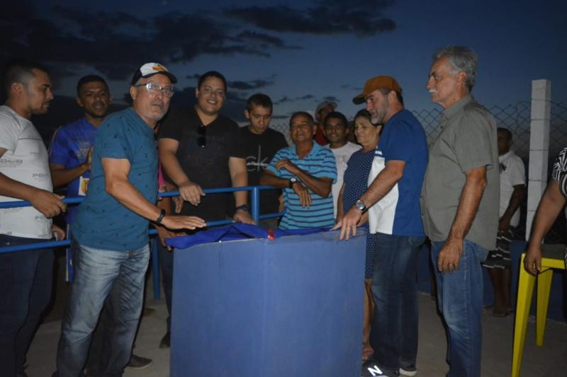 Oeiras | Prefeito inaugura campo de futebol no povoado Ipueiras, zona rural