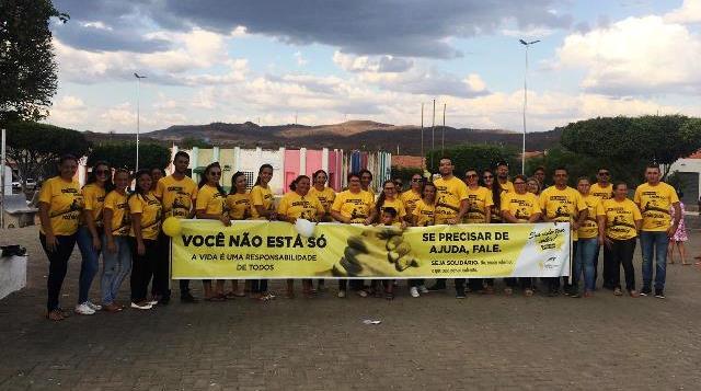 Caldeirão Grande | Caminhada encerra campanha do Setembro Amarelo