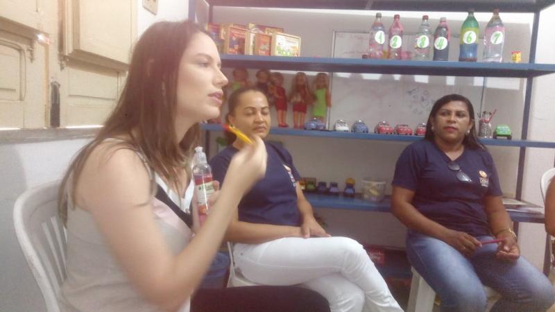 Oeiras | Crianças atendidas pelo CREAS recebem orientações de higiene bucal