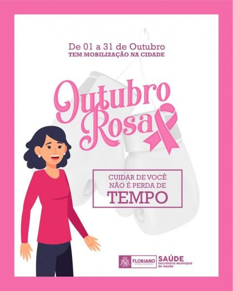 Saúde promove ações no Outubro Rosa