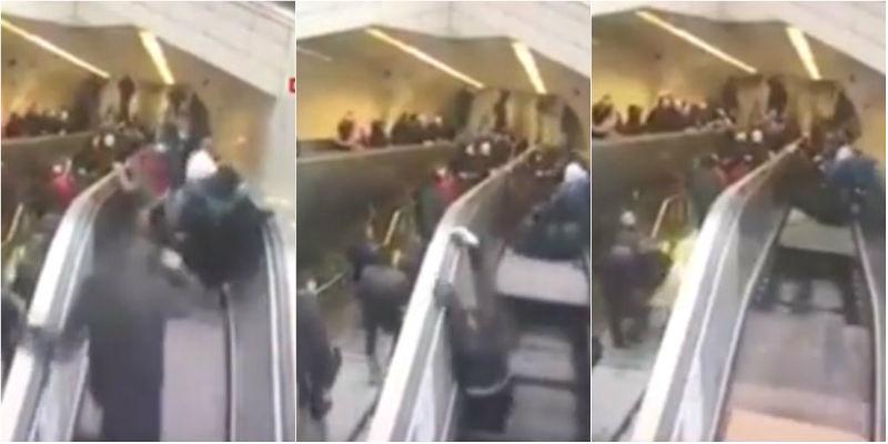 """Vídeo: homem é """"engolido"""" por escada rolante quebrada"""