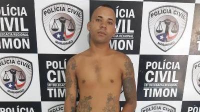 'Léo Palhaço' é preso pela Civil/Timon em cumprimento de mandado de prisão