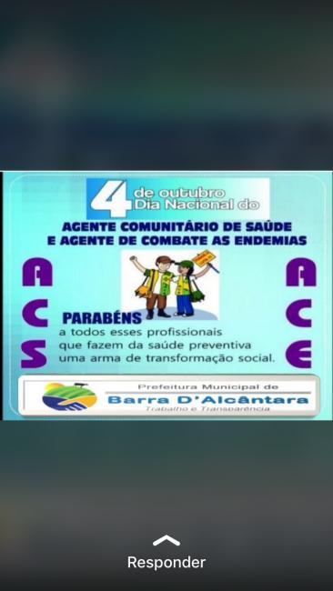 Prefeitura de Barra D'Alcântara parabeniza agentes de saúde e de endemias