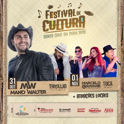 Confira as atrações do 3º Festival de Cultura de Santa Cruz do Piauí