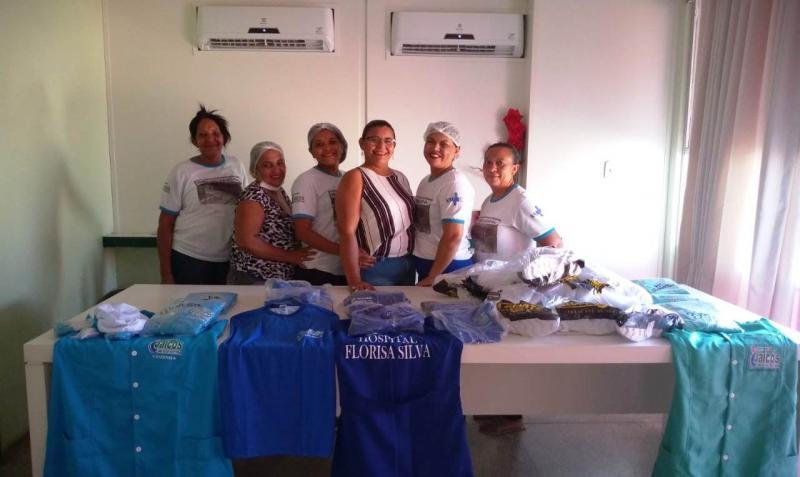 Jaicós | Servidores do Hospital recebem fardamento novo