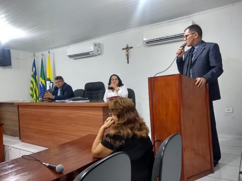 Presidente da Câmara Alan Juciê fez uso da palavra na sessão desta segunda